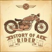 Vintage motosiklet — Stok Vektör