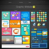 Kullanıcı arayüz tasarımı — Stok Vektör