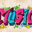 Graffiti style Music background — Stock Vector