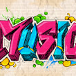 Graffiti style Music background — Stock Vector