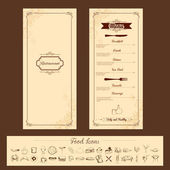 Template for Menu Card — Stock Vector