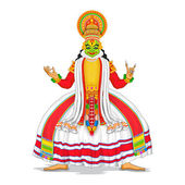 Kathakali Dancer — Stock vektor