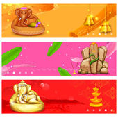 Banner for Ganesh Chaturthi — Stock Vector