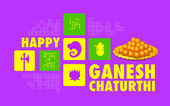 Happy Ganesh Chaturthi background — Stock Vector