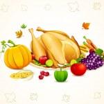 Thanksgiving Card — Stock Vector #6837357