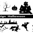 Design elements for halloween - Stock Vector