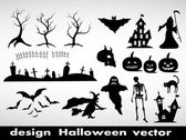 Design elements for halloween — Stock Vector