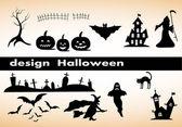 Design elements for halloween — Stock Vector