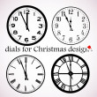 Christmas dials — Stock Vector