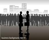 Meeting of businessmen — Stock Vector