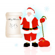 Stock Vector: SantClaus