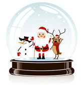 Sphere with Santa Claus — Stock Vector
