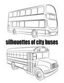 Bus silhouet — Stockvector