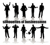 Silhouettes of businessmen — Stock Vector