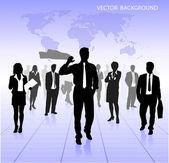 Vector business background — Stock Vector