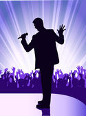 Soloists before public — Stock Vector