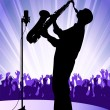 Stock Vector: Jazz performer