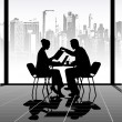 Stock Vector: Business meeting