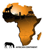 Continent Africa — Stock Vector