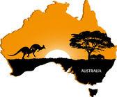 Australian continent — Stock Vector