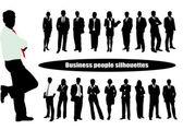 Silhouet zakenman — Stockvector