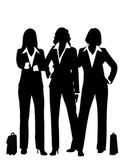 Silhouette of business woman — Stock Vector