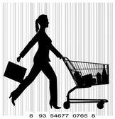 Ludzie z zakupy — Wektor stockowy