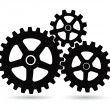 Gears on a white background — Stock Vector
