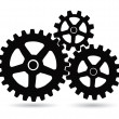 Gears on a white background — Stock Vector #24943249