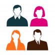 People icons on a white background — Stock Vector