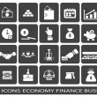 Icon web on a subject business finance economy — Stock Vector