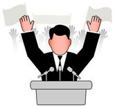 Policy speech before an audience — Stock Vector