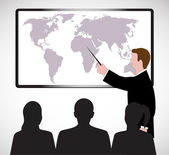 On the image the presentation of the businessman is presented — Stock Vector