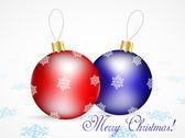 Kerstmis achtergrond met ballen — Stockvector