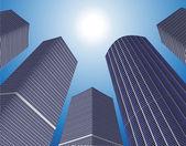 Metropolis under the sun — Stock Vector
