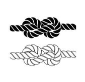 Rope knot on a white background — Stock vektor
