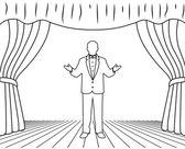 Acteur sur une scène — Vecteur