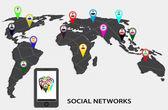 Infographics social networks — Vecteur