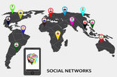 Infographics social networks — Vettoriale Stock