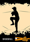 Giocatore di baseball — Vettoriale Stock