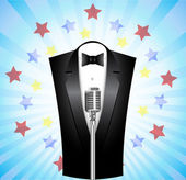 Singer at the microphone — Stock Vector