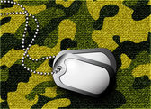 Soldier s token for camouflage fabrics — Vector de stock