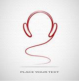 Silhouette headphones — Stock Vector