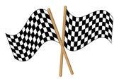 Checkered alarm flag — Stock Vector