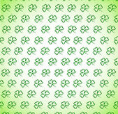 Pattern from clover leaves — Vector de stock