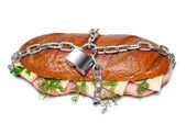 Chained burger — Stock Photo
