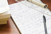 Mathematician notes — Stock Photo