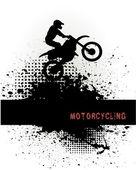 Biker — Stock Vector