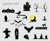 Halloween design elements — Vector de stock
