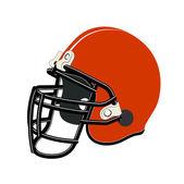 Red football helmet — Stock Vector